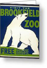 Poster For The Brookfield Zoo Greeting Card