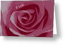 Poster Rose Greeting Card