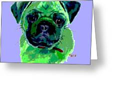 Posterized Pug Greeting Card