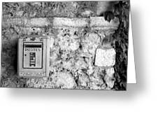 Postes In Black And White Greeting Card