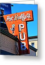 Pot Belly's Pub Sign Greeting Card