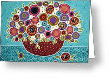 Pot Of Bloomers Greeting Card