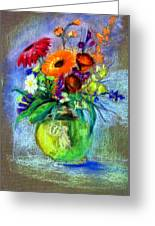 Pot Of Flowers Greeting Card