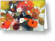 Pot Of Flowers Greeting Card by Michelle Abrams