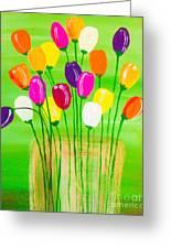 Pot O'tulips Greeting Card