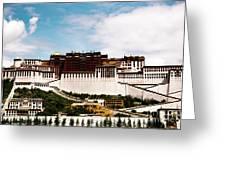 Potala Palace Dalai Lama Home Place. Tibet Kailash Yantra.lv 2016  Greeting Card