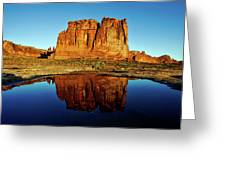 Pothole Reflections - Arches National Park Greeting Card