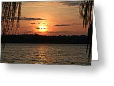 Potomac River Sunset In March Greeting Card