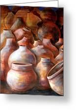 Pots In Morocco Greeting Card