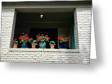 Pots In The Window Greeting Card