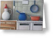 Pots On Stove Greeting Card