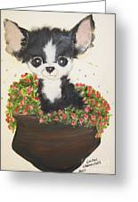 Potted Pup Greeting Card
