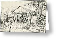 Potter's Covered Bridge Greeting Card