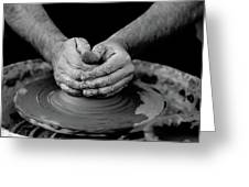 Potters Wheel Creation Greeting Card