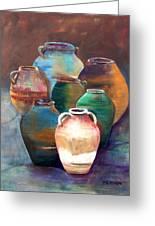 Pottery Jars Greeting Card