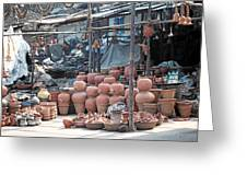 Pottery Shop In India Greeting Card