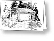 Potting Shed At Le Coin Retro In Le Thor France Greeting Card