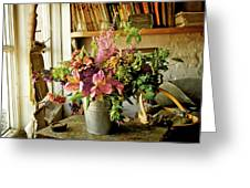 Potting Shed Flowers Greeting Card by Gerry Walden