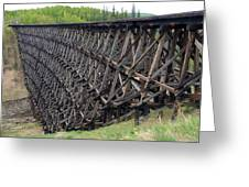 Pouce Coupe Train Wooden Trestle Greeting Card