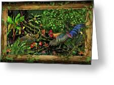 Poultrified Garden Of Eden Greeting Card