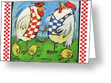 Poultry In Motion Poster Greeting Card
