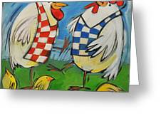 Poultry In Motion Greeting Card