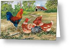 Poultry Peckin Pals Greeting Card
