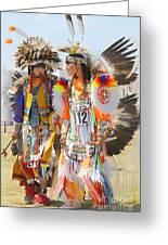 Pow Wow Contestants - Grand Prairie Tx Greeting Card