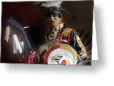 Pow Wow Portrait Of A Proud Man 2 Greeting Card