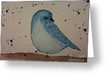 Powder Blue Greeting Card by Ginny Youngblood