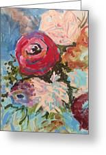 Powder Blue Roses Greeting Card