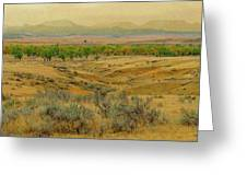 Powder River Autumn Reverie Greeting Card by Cris Fulton