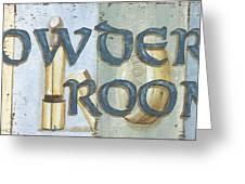 Powder Room Greeting Card