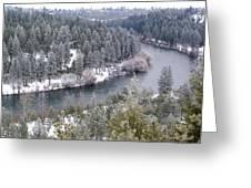 Powdered Spokane River Greeting Card