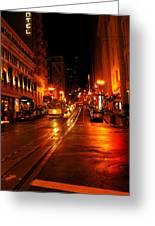 Powell Street Rain Greeting Card