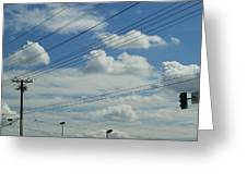 Power Clouds Greeting Card