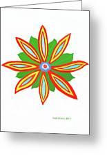 Power Flower Greeting Card