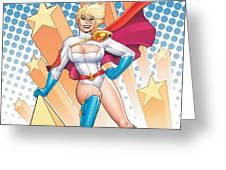 Power Girl Greeting Card