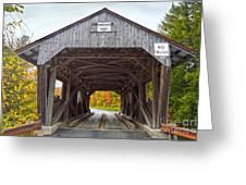 Power House Covered Bridge Greeting Card