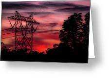 Power In Red Greeting Card