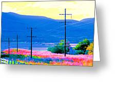 Power Lines 3 Greeting Card