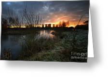 Power Plant Sunrise 1.0 Greeting Card