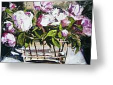 Power To The Peonies Greeting Card