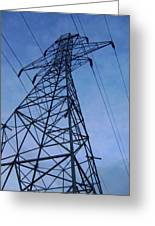 Power Tower Greeting Card