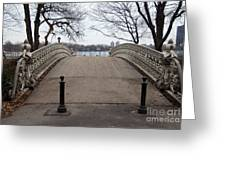 Power Walking In Central Park Greeting Card