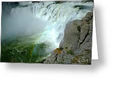 Powerful Large Waterfall Shoshone Falls Amazing Beauty Water Fal Greeting Card
