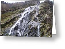 Powerscourt Waterfall In Ireland Greeting Card