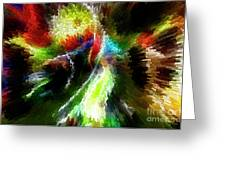 Powwow Dancer Abstract Greeting Card