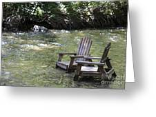 pr 165 - Chairs In The River Greeting Card