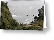 pr 166 - Cliffs Of Big Sur Greeting Card
